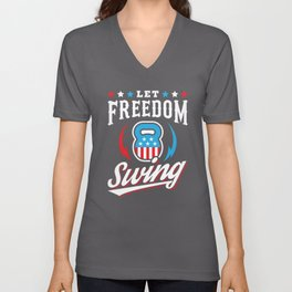 Let Freedom Swing Unisex V-Neck
