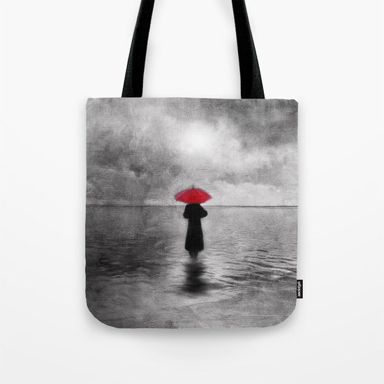 waiting in the sea II  -  by Viviana Gonzalez Tote Bag