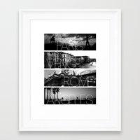 cityscape Framed Art Prints featuring CITYSCAPE by Grafikki Shop