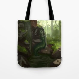 Water nymph by the waterfall Tote Bag