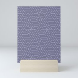 Rhythm - violet - Modern Vector Seamless Pattern Mini Art Print
