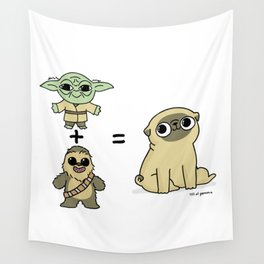 The origin of pugs Wall Tapestry