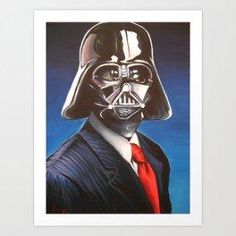 Dapper Vader Art Print
