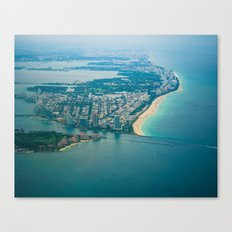Miami Aerial Canvas Print