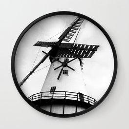 B&W Windmill Wall Clock