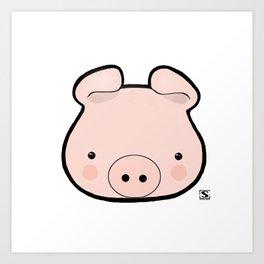Piggy Kawaii Art Print