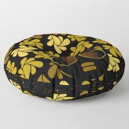 Afro Diva : Gold Floor Pillow