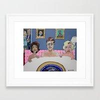 jfk Framed Art Prints featuring JFK by Robert E. Richards