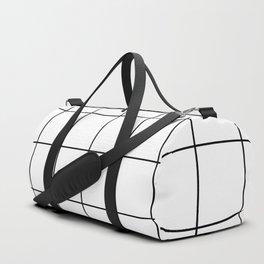 Black & White Checkers Duffle Bag