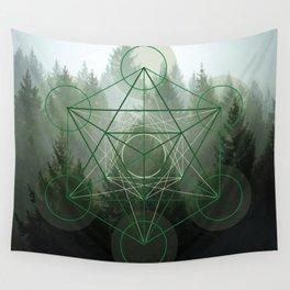 Pine Tree Sacred Geometry Wall Tapestry