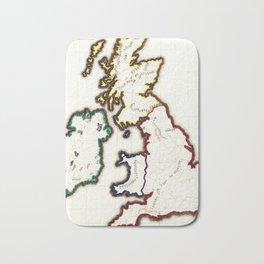 Vintage Map of The British Isles (1860) Bath Mat
