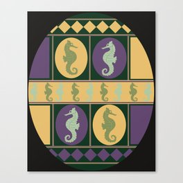 Seahorse Parade Canvas Print