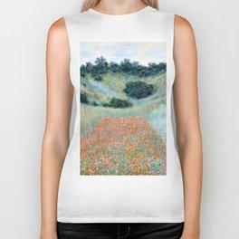 Poppy Field in a Hollow near Giverny by Claude Monet 1885 Biker Tank