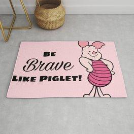 Be Like Piglet Rug