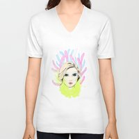 circus V-neck T-shirts featuring circus by rena rulianti