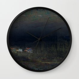 mountain cribs Wall Clock