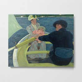 Mary Cassatt - The Boating Party Metal Print