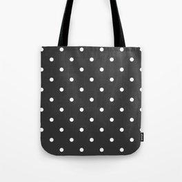Dots Charcoal Tote Bag