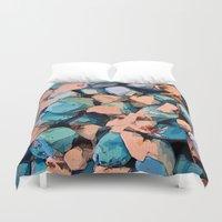 salt water Duvet Covers featuring Salt Water Taffy by Sandra Bauser Digital Art