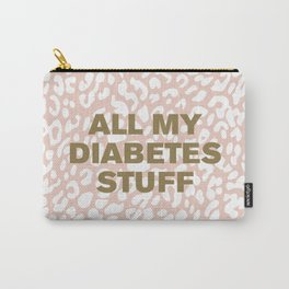 All My Diabetes Stuff™ (Gold on Pink Leopard) Carry-All Pouch