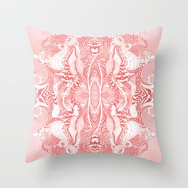 Garden 5 blush Throw Pillow