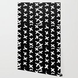The X White on Black Wallpaper