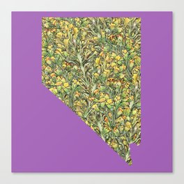 Nevada in Flowers Canvas Print