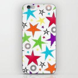 Trendy colourful star iPhone Skin
