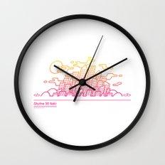 Italic skyline Wall Clock