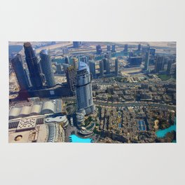 View from the Burj Khalifa Rug