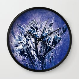 Thistle and Weeds_deep purple Wall Clock