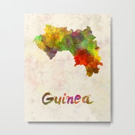 Guinea in watercolor Metal Print
