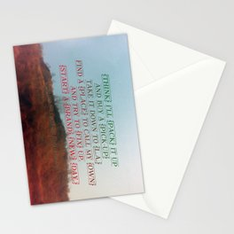 """""""Out On The Weekend"""" by Neil Young Stationery Cards"""