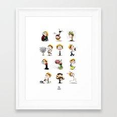 It's Hiddles O'Clock Framed Art Print