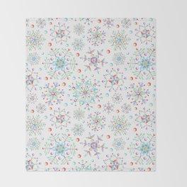 Snowflake Kaleidoscope Throw Blanket