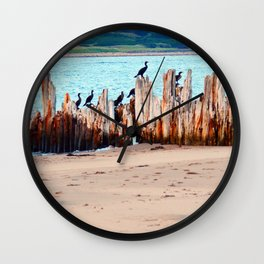Perched on Wharf Remains Wall Clock