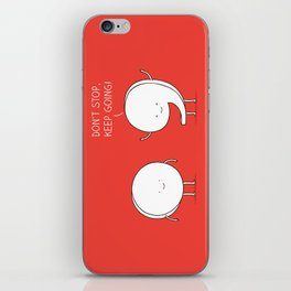 positive punctuation iPhone Skin
