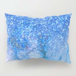 Blue glitter and marble ombre Pillow Sham