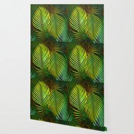 TROPICAL GREENERY LEAVES Wallpaper