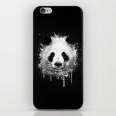 Cool Abstract Graffiti Watercolor Panda Portrait in Black & White  iPhone & iPod Skin