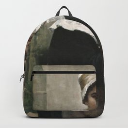 Amelie Helga Lundahl - Breton Girl Holding a Jar Backpack