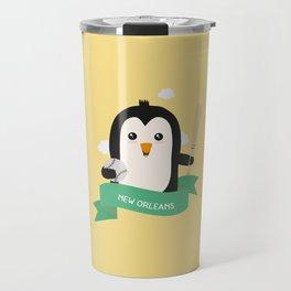 Baseball Penguin from NEW ORLEANS T-Shirt Travel Mug