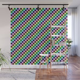 Regular Polygons on Chessboard 36x36 Wall Mural