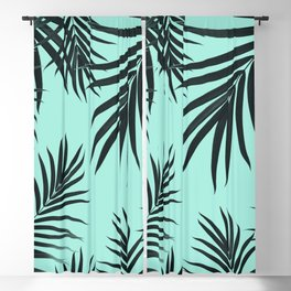 Palm Leaves Pattern Summer Vibes #7 #tropical #decor #art #society6 Blackout Curtain