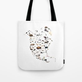 Wild North America map Tote Bag