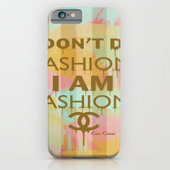 Fashion Typography iPhone & iPod Case