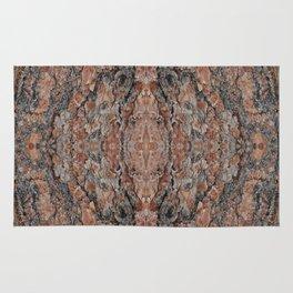 Wood Texture Kaleidoscope Rug