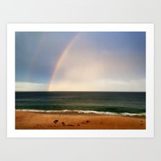 Beach Rainbow Art Print