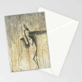 "SAXOPHONE. A SERIES OF WORKS ""MUSIC OF THE RAIN"" Stationery Cards"