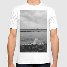 Statue of Liberty III Mens Fitted Tee MEDIUM White